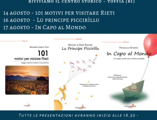 Valentina Colarieti Tosti, Stefano Mariantoni e Francesca Dominici: le presentazioni a Toffia