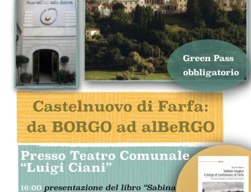 Sabina magica: sabato la presentazione a Castelnuovo di Farfa